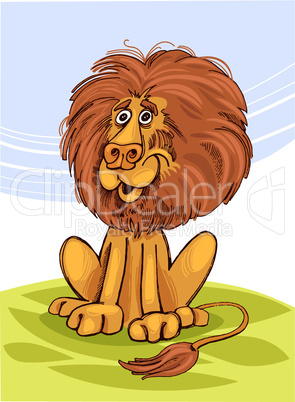 africa lion cartoon