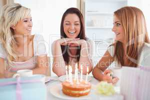 Young Women celebrating a birthday
