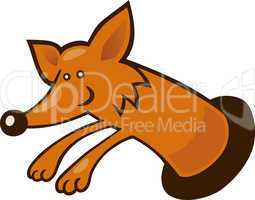 Fox in burrow