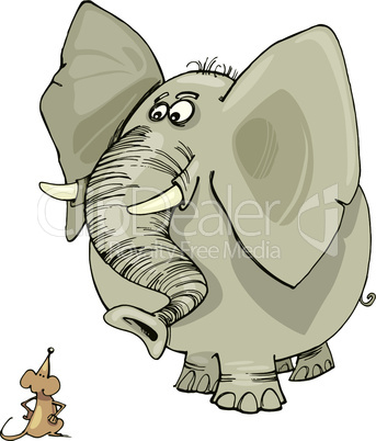 elephant and mouse cartoon