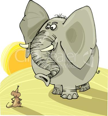 elephant and mouse cartoon