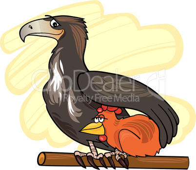 eagle change chicken cartoon