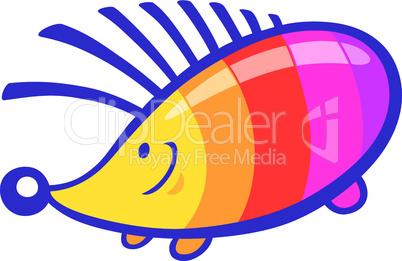 cute rainbow hedgehog cartoon