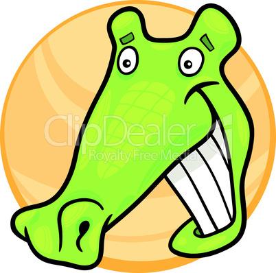 cartoon funny crocodile