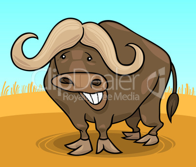 african buffalo cartoon