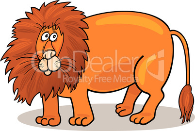 big lion cartoon
