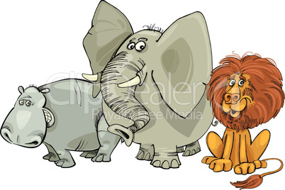 big african animals cartoon