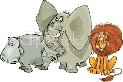 big african animals cartoon
