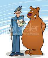 Bear and policeman