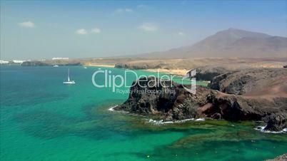 famous papagayo beach