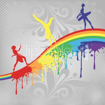 Dance on a rainbow