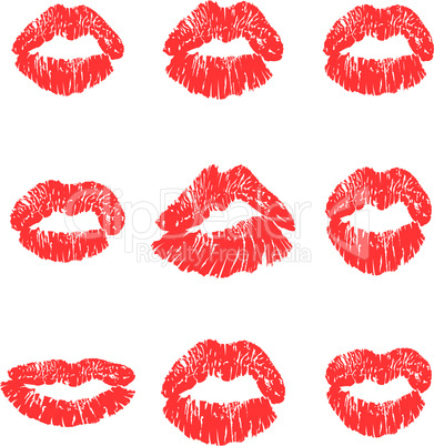 set kiss lips