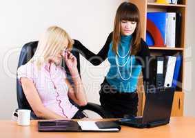 Two pretty businesswomen