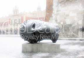 """Sculpture by Igor Mitoraj """"Eros Bendato"""""""