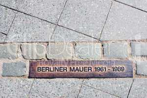 Place of the Berlin wall.