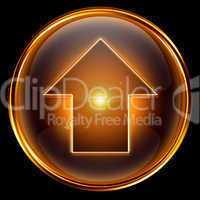 Arrow UP icon golden.