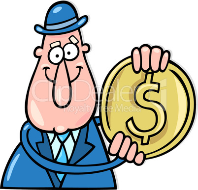 guy with dollar coin