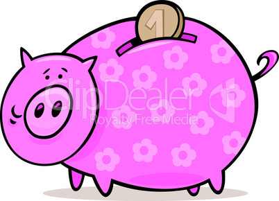 piggy bank with coin