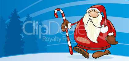 Santa claus with cane