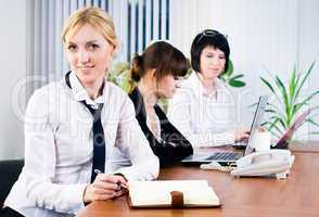 Business ladies in office
