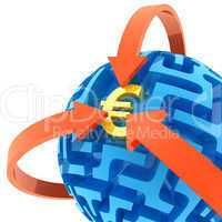 Euro puzzle. Money Sphere Maze solved