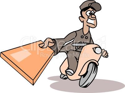Paketdienstfahrer