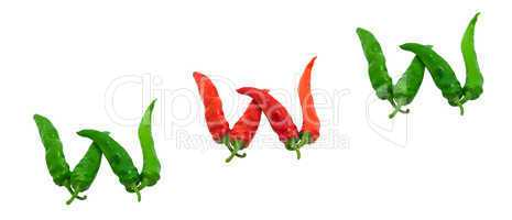 WWW text composed of chili peppers