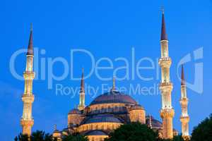 Blue Mosque at Dusk
