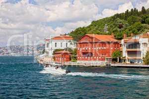 Houses on the Bosphorus Strait