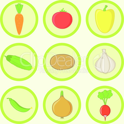 Vegetables Icon Set.eps