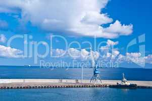 Crane at the baltic sea