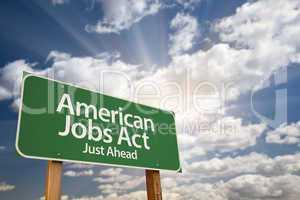 American Green Road Sign
