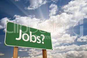Jobs? Green Road Sign