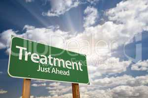 Treatment Green Road Sign