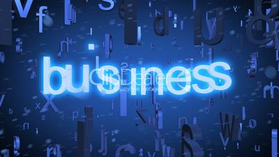 Business Words Concept Animation