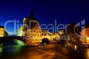 Bamberg Rathaus Nacht - Bamberg townhall by night 01