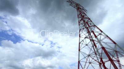Strommast -power pole - time lapse - zoom in