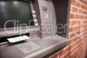 Close up of an ATM