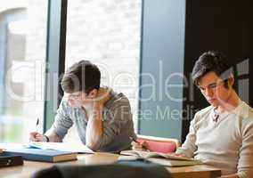 Two students working on an assignment