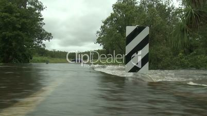 Flash flooding in Australia during cyclone