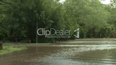 Flash flooding in Australia swamps recreation area
