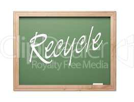 Recycle Green Chalk Board Series