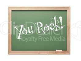 You Rock! Green Chalk Board Kudos Series