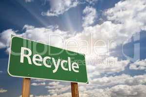 Recycle Green Road Sign