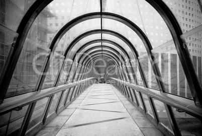 futuristic glass tunnel
