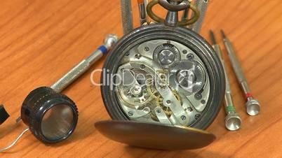 Clock working and watchmaker repair tools