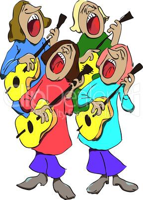Quartet of musicians