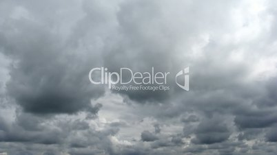 Loop of stormy clouds. Time lapse HD