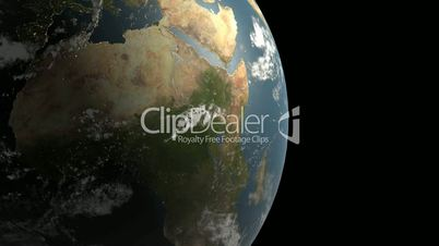 Rotation of 3D earth.planet,world,globe,continent,map,geography,ocean,sphere,blue,global,land,space,sea,
