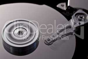 hard disk drive in motion  (zero-seven)